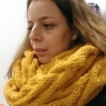 Sand Waves Cable Scarf