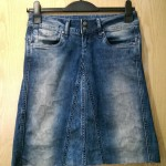 Re-fashion jeans into a denim skirt